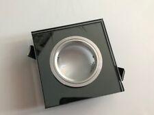 Eckig Glas Einbaustrahler Anthrazit Einbaurahmen Gehäuse GU10 MR16 Led Modul