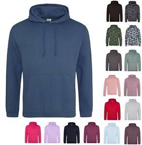 AWDis Unisex Men Women Plain College Hooded Jumper Hoody Sweatshirt Hoodie JH001