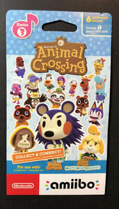 Nintendo Animal Crossing Amiibo Card Pack Series 3 [ 6 Cards in 1 Pack ] NEW