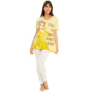 Ladies Disney Belle Pyjamas | Womens Belle Pyjama Set | Disney PJs