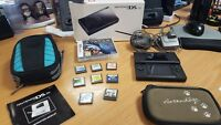 Nintendo DS Lite Black - 2 x Chargers, Case & games