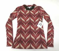 Jack & Jinger Women's Long Sleeve Slim Fit Top Multi-Color CB4 Size Small NWT