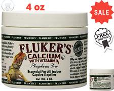 Flukers Repta Calcium Reptile Calcium Supplement Powder with Vitamin D3 4oz