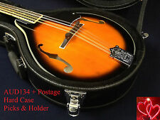 Smoky Mountain Sm64 A-style Mandolin - Vintage Sunburst Lockable Hard Case