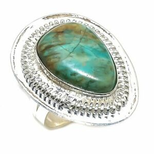 Arizona Turquoise Gemstone Handmade Ethnic Ring Size 9
