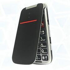 """Telefono Cellulare per anziani Nero Funzione SOS Schermo 2.4"""" Tasti Grandi"""