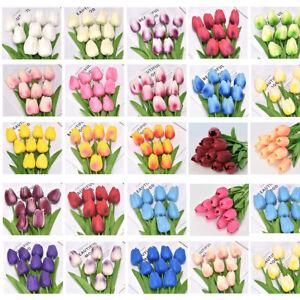 1Pc Artificial Tulip PU Fake Bouquet False Flower Home Party Wedding Hotel Decor