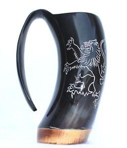 Game of Thrones Lannister house sigil Viking Drinking Horn Beer Mug Tankard gift