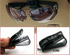 Black Fashion Auto Car Vehicle Visor Glasses Sunglasses Ticket Card Holder Clip