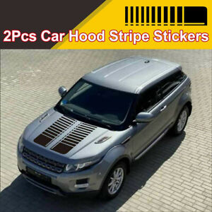 2pcs Hood Decals Stickers Racing Stripes Graphics Fits For Car Truck Decoration