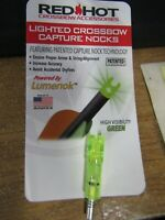 FREE SHIPPING 1 Parker Red Hot Lighted  Capture Nock Green 1ea single