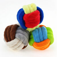 STP-US 3 Durable Chewing Colorful Plush Balls Pet Toys for Small Medium Dog