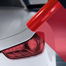 2X A4 Red Car Headlight Fog Light Tint Film  FLR032