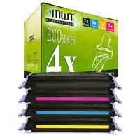 4x MWT ECO Toner für HP Color LaserJet CM-1017-MFP 2600-N 2605-DN