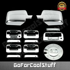 For Ford F-150 2004-08 Chrome Mirror, Door Handle, Tailgate + Gas Fuel Cap Cover