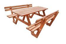 Picknicktisch LEHNE 180cm/35mm Gartentisch Gartenbank Bierbank impr. Teak