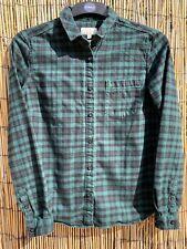 Jack Wills ladies green check sparkle shirt, UK 12