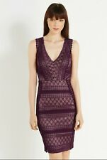 BNWT Oasis Wine Geo Lace Dress size M