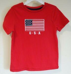 New Lightning Bug USA Flag Shirt Boy's Size 5