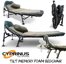 Cyprinus™ Tilt Memory Foam Carp Fishing 6 leg adjustable Bedchair Bed chair