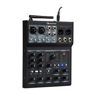 Mixer DJ Audio Consolle 6 Canali CD Bluetooth 2 Microfoni XLR MP3 USB Nero
