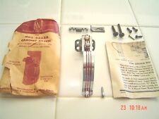 Vtg NOS Chrome Cabinet Door Pulls Latch Catch Push Button RED LINES - STRIPES