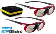 "2x Occhiali 3d | Hi-shock ® ""Scarlet Heaven"" per Samsung, Sony & Sharp HDR TV 's |"