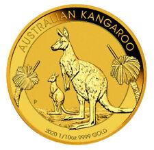 Kangaroo Känguru Goldmünze 2020 1/10 Oz mit Originalrechnung