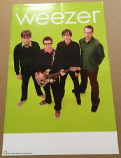Weezer Rare 2001 Promo Poster for Green Album Cd Never Displayed Usa 11x17