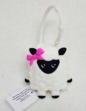 Bath Body Works WHITE SHEEPIE Sheep Bow Pocketbac Holder Clip Case Sanitizer