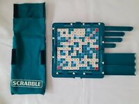 TRAVEL SCRABBLE Game With Hard Case Magnetic Letters And Board. Complete.