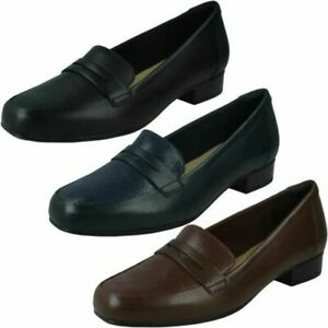 Clarks Ladies Slip On Loafers - Juliet Coast