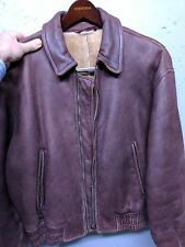 GIORGIO ARMANI Lambskin Leather Vintage Bomber Jacket Medium