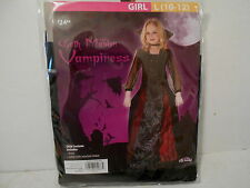 Girls Goth Maiden Vampiress Halloween Costume - Size Large (10-12) - NEW