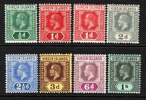 British Virgin Islands KGV 1913-19 Set to 1s SG69b-75 M/Mint