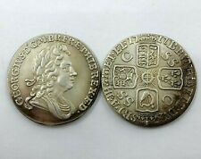 1717 : Four Crowned Cruciform Shields Obverse: GEORGE I  Shilling Armored Bust
