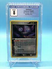 CGC 8 Sableye 23/107 Reverse Holo Stamped EX Deoxys Pokémon (PSA, BGS)