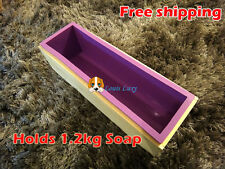 Quality wood loaf soap mould with silicone mold melt or cold-process 1.2kg soap