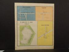 Wisconsin Fond Du Lac Couny Map Forest Lake & Oak Centre 1910   J11#31
