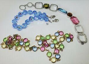 Lot Of Swarovski Jewelry For Repair, Craft, Jewelry Making AB Beads Settings