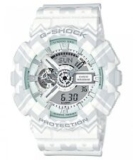 CASIO G-SHOCK LIMITED EDITION WHITE TRIBAL PATTERN MEN'S WATCH GA-110TP-7A NEW