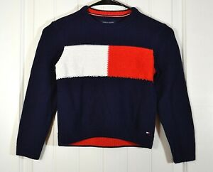 NWT BOYS YOUTH TOMMY HILFIGER BLUE LOGO LONG SLEEVE JACKET PULLOVER SZ S-L