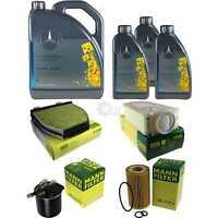 Inspektionspaket 8L Mercedes Öl 229.5 5W40+ MANN Filterpaket 11132459