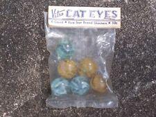 "Original Vintage Vitro Agate 7/8"" ? Cats Eye Marbles / Original Packaging Mint"