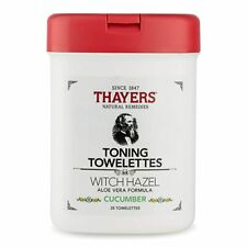 THAYERS  Cucumber Toning Towelettes  30 Towelettes (Pack of 3) FREE SHIPPING