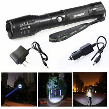15000LM Rechargeable XM-LT6 Flashlight Torch Lamp 5 Modes + AC / Car Charger