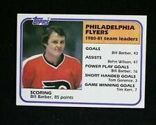 1981-82 Topps Flyers Hockey Card #59 Bill Barber Tl