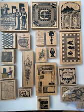 Lot Of 20 Rubber Stamps Scrap Booking Collection Club Scrap w: Limited Editions