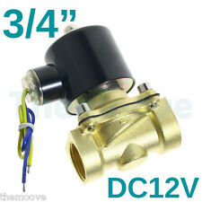 "2 Position DC 12v 3/4"" Solid Coil Electric Solenoid Valve Gas Water Fuels Air AU"