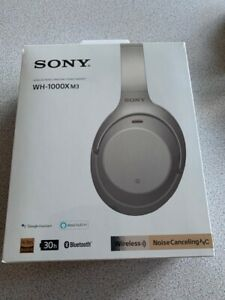 Sony WH-1000XM3 Wireless Noise Canceling Bluetooth Headphones Silver NEW